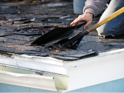 Shingle Removal Process For Replacing A Residential Roof In South Bend, Indiana